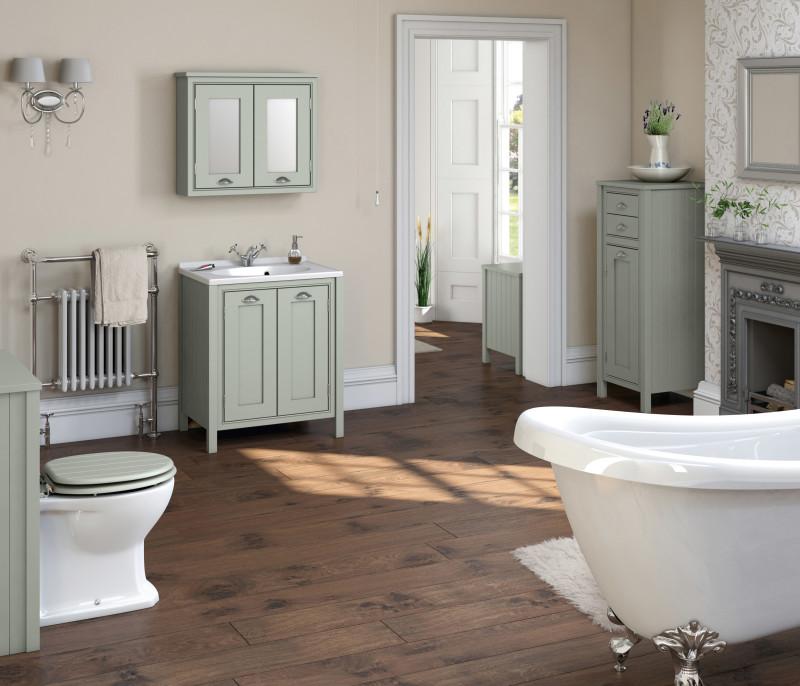 Сочетание мебели в ванной
