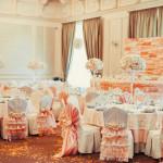 Фото 32: Оформление свадьбы в персиковом цвете
