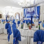 Фото 25: Оформление свадьбы в синем цвете