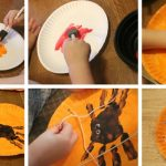 Фото 74: Украшение к Хэллоуину из бумажной тарелки