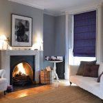 Фото 75: Плотная римская штора в гостиной