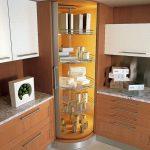 Фото 78: Угловой кухонный шкаф
