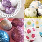 Фото 58: Украшение яиц блестками