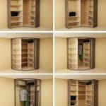 Фото 60: Варианты внутренних конструкций радиусных выпуклых шкафов