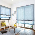 Фото 39: Цветные льняные римские шторы
