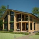 Фото 23: Современный дизайн деревянного дома
