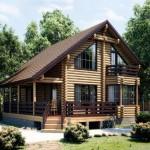 Фото 25: Цветовое решение деревянного дома из бревна