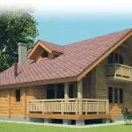 Фото 30: Деревянный дом с балконом и террасой