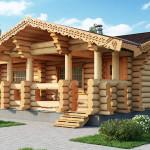 Фото 19: Деревянный дом с украшением наличниками