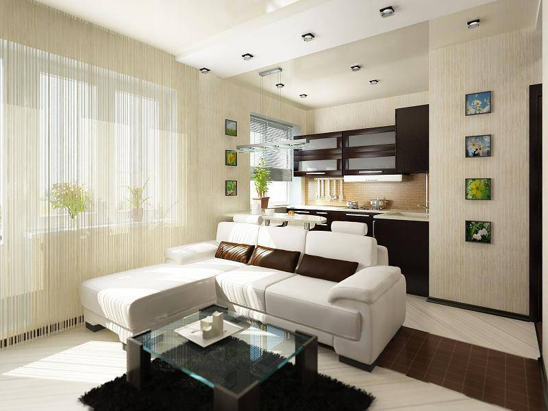 Шторы для квартиры студии