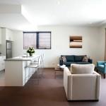 Фото 19: Кухня, совмещённая с гостиной в едином стиле