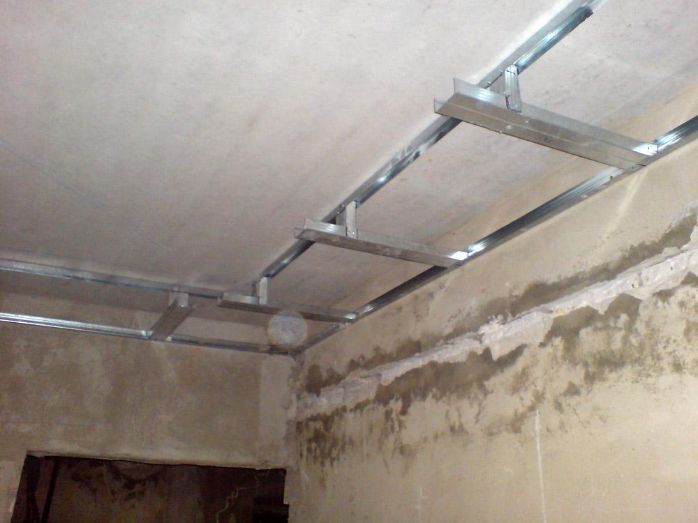Двухуровневый потолок из гипсокартона своими руками пошаговая