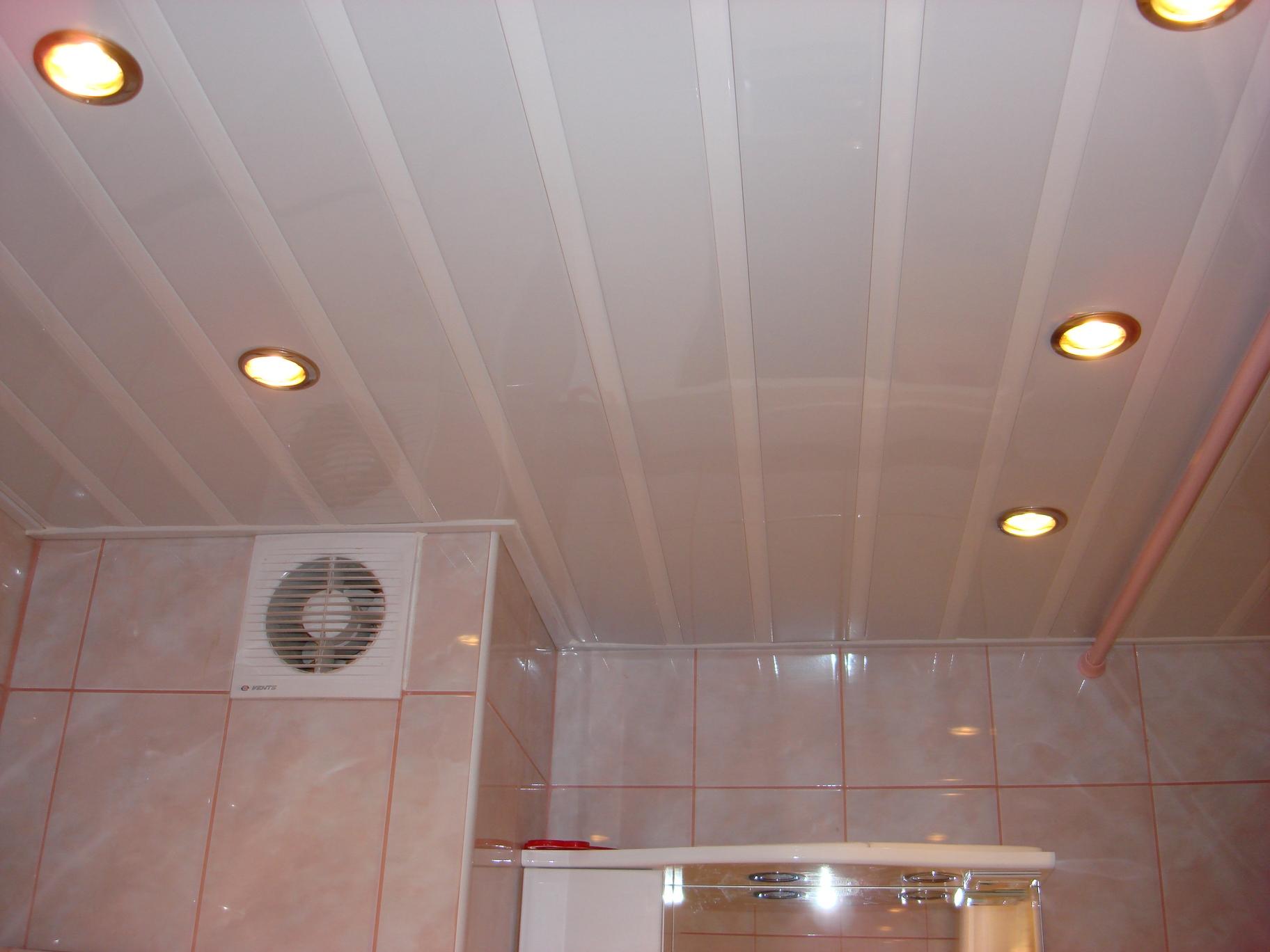 Как сделать навесной потолок в ванную