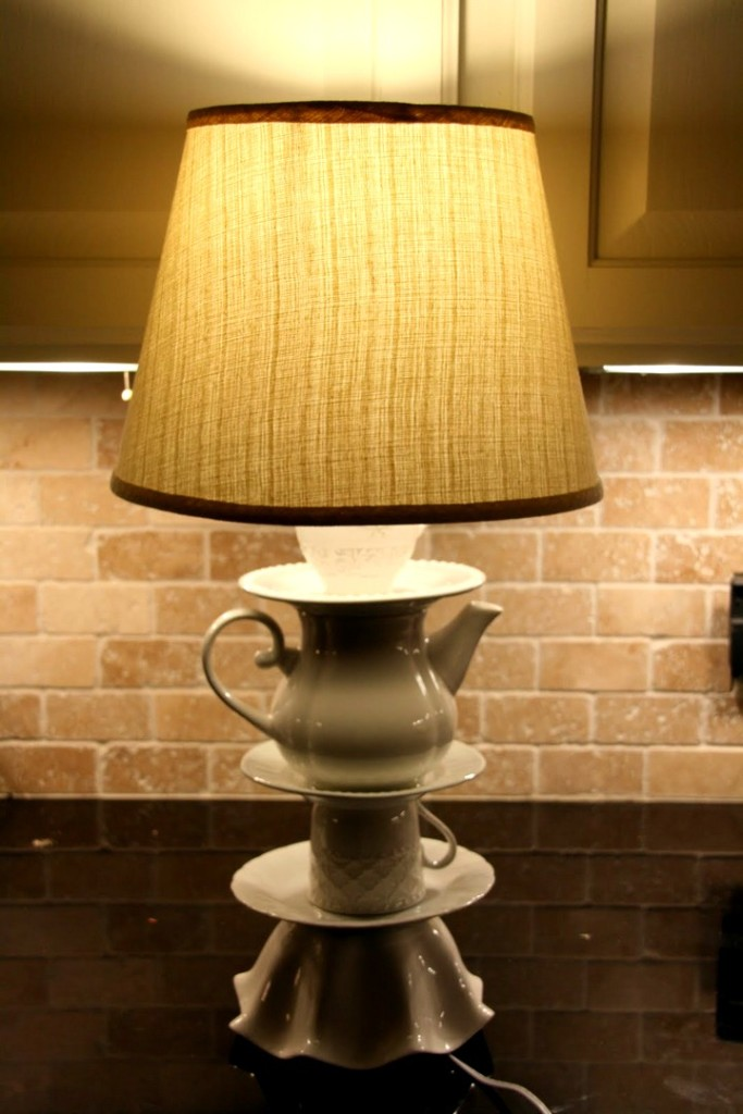 Плафон на настольную лампу своими руками 38