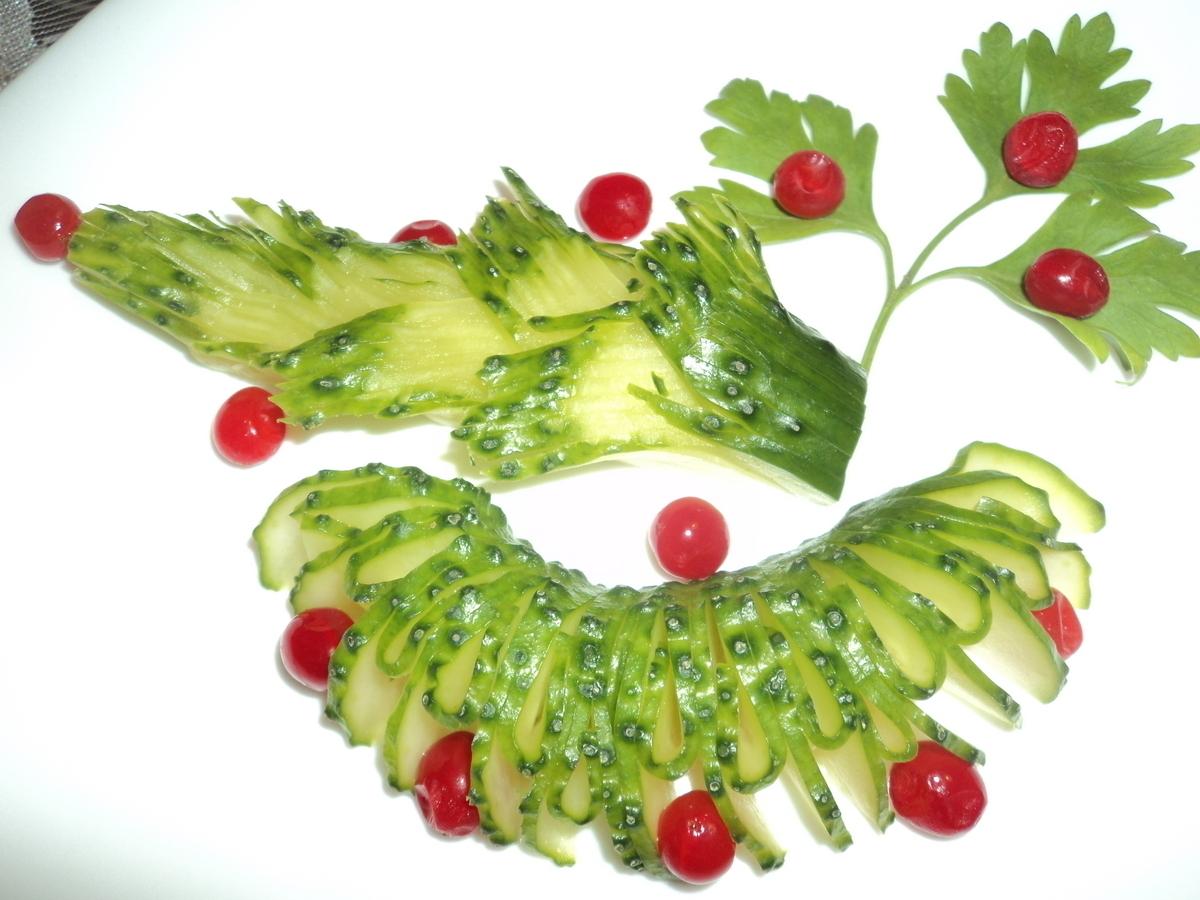 Фото для украшения из овощей и фруктов