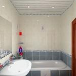 Фото 15: Пластиковые потолки в ванной (7)