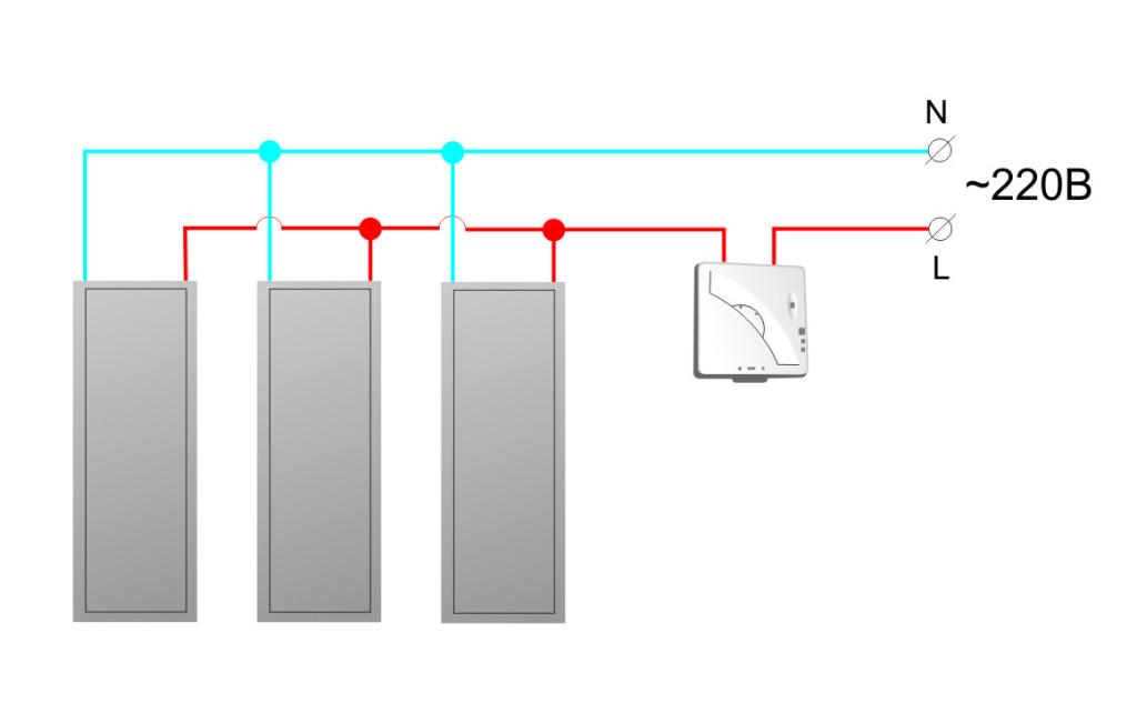 Подключение инфракрасных панелей
