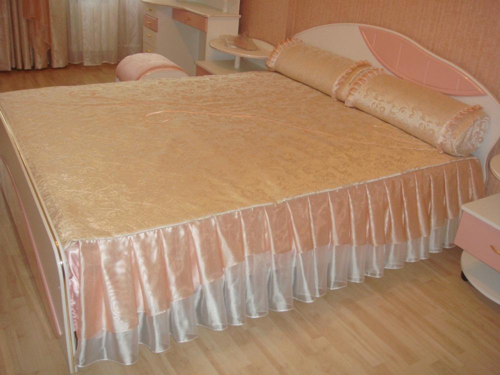 Как сшить покрывало с оборкой на кровать 711