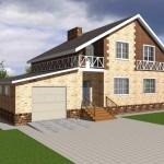 Фото 10: Проект дома с гаражом и мансардой (11)