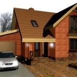 Фото 14: Проект дома с гаражом и мансардой (15)