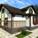 Фото 15: Проект дома с гаражом и мансардой (16)