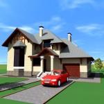 Фото 18: Проект дома с гаражом и мансардой (19)