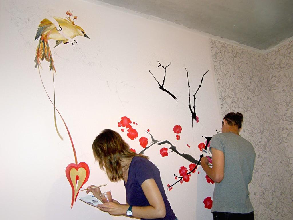 Процесс росписи
