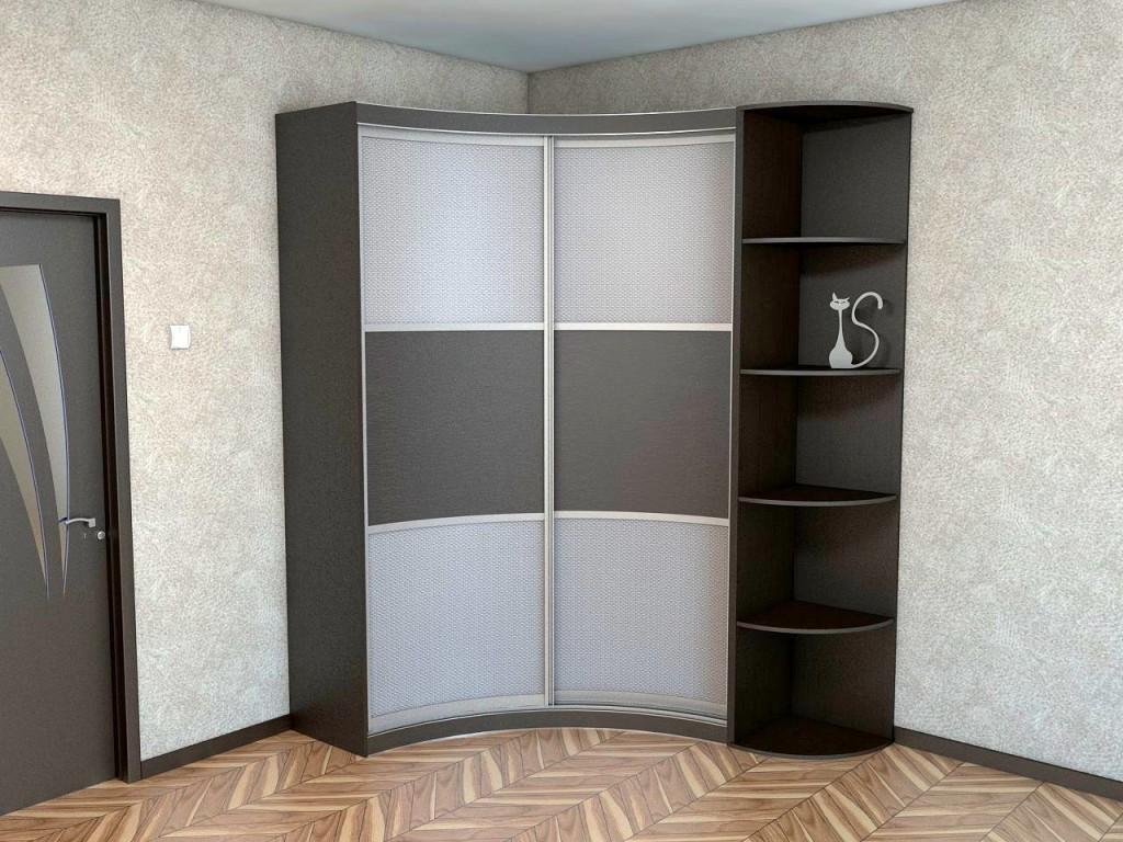 Радиусный угловой шкаф-купе