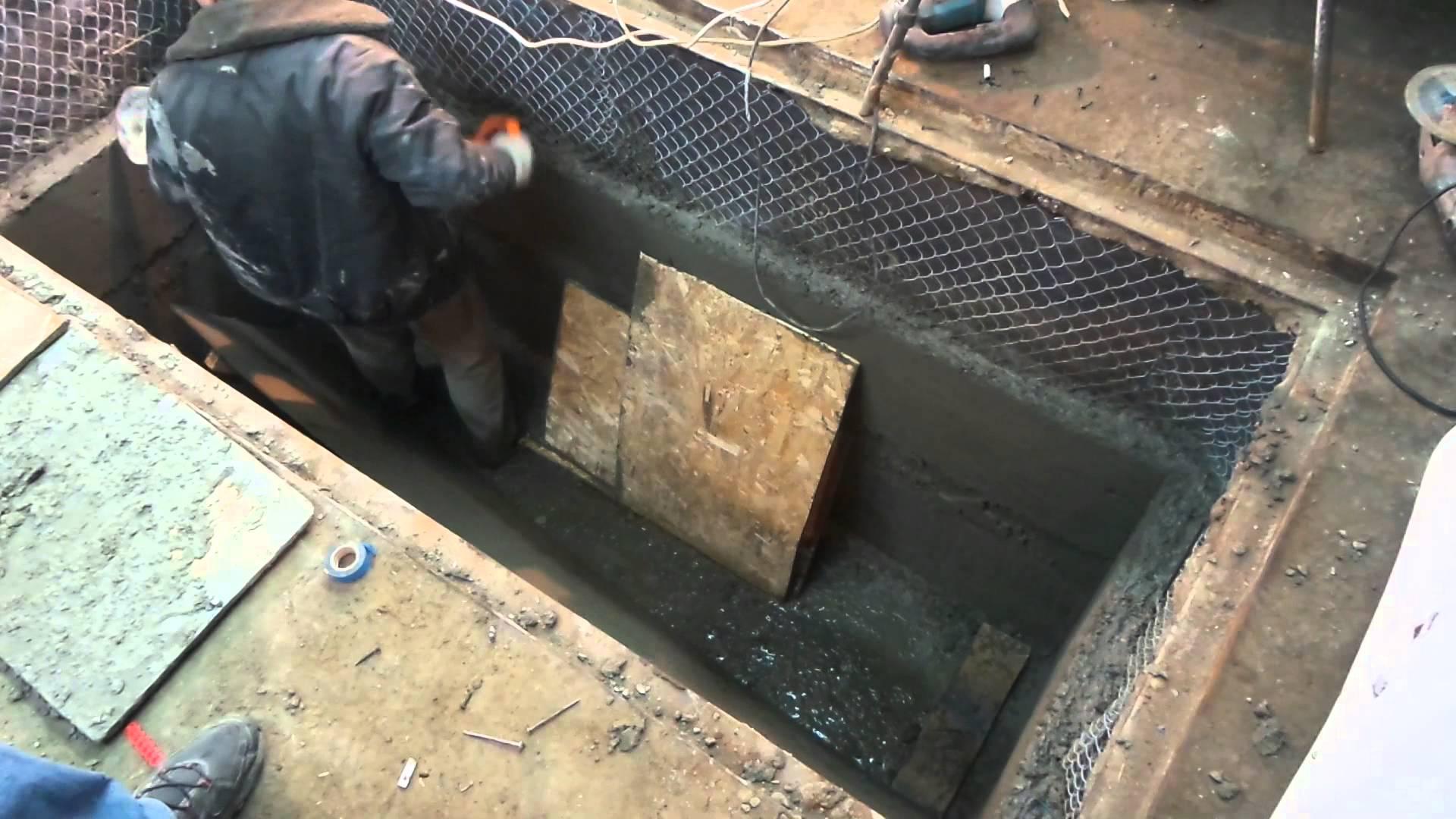 Ремонт ямы в гараже своими руками