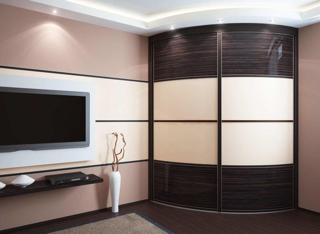 Радиусные шкафы в интерьере фото