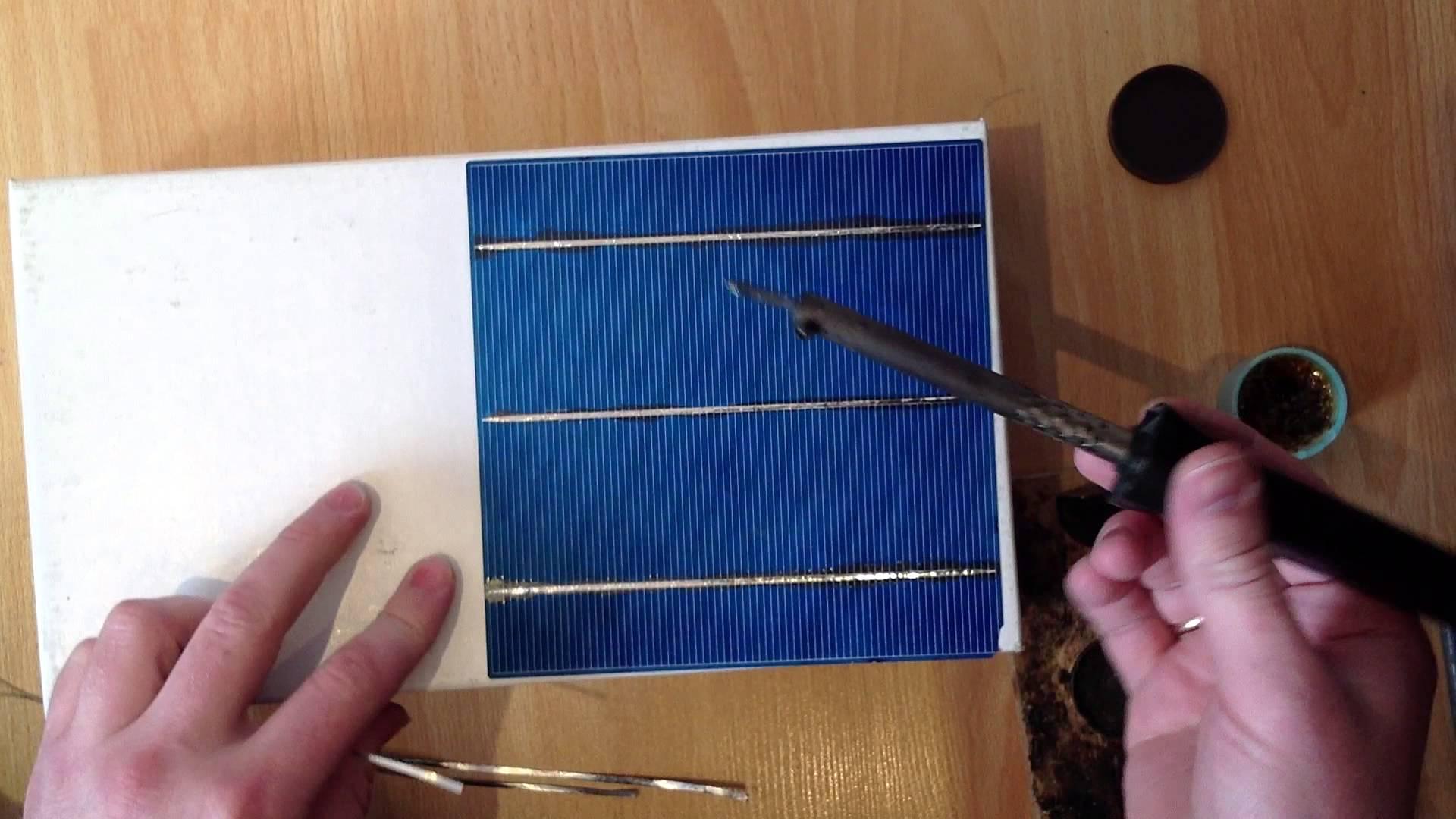Сделать фотоэлементы для солнечной батареи своими руками