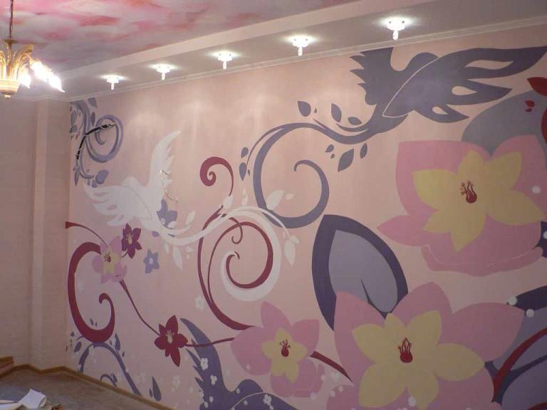 Простая роспись стен своими руками фото