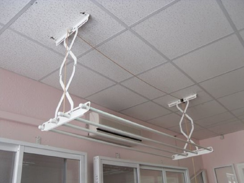 Система сушки белья на балконе потолочная купить.