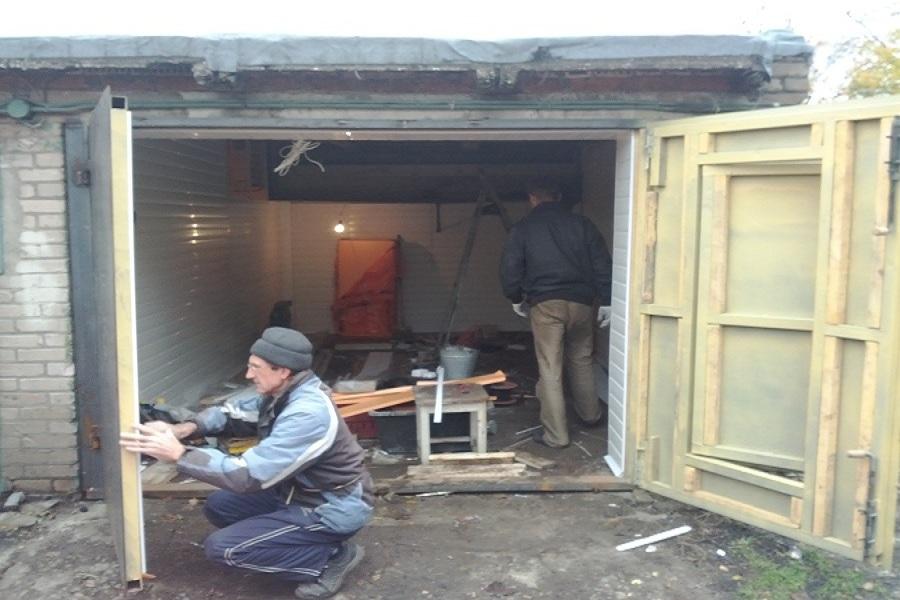 Как утеплить ворота в гараже своими руками фото 28