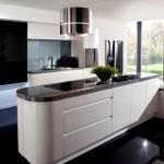 Фото 8: Черно-белая кухня-гостиная