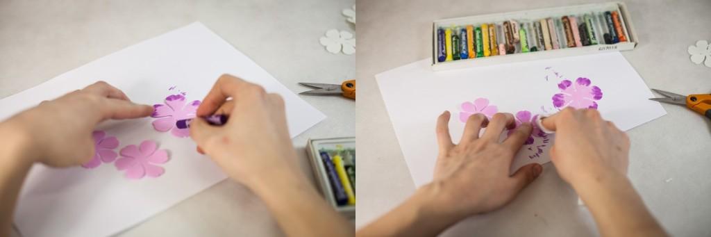 Используйте масляную пастель для придания желаемого оттенка
