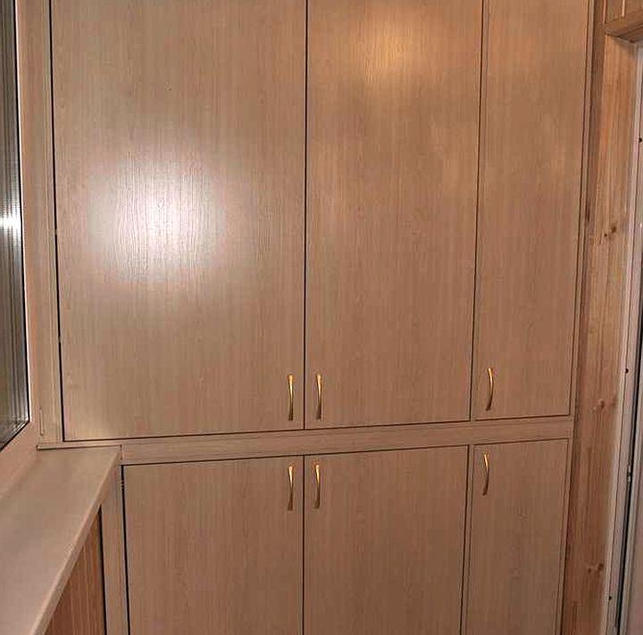 Ламинированное ДСП для отделки шкафа на балконе
