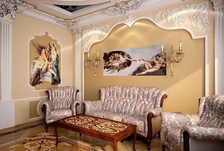 Стены украшенные росписью