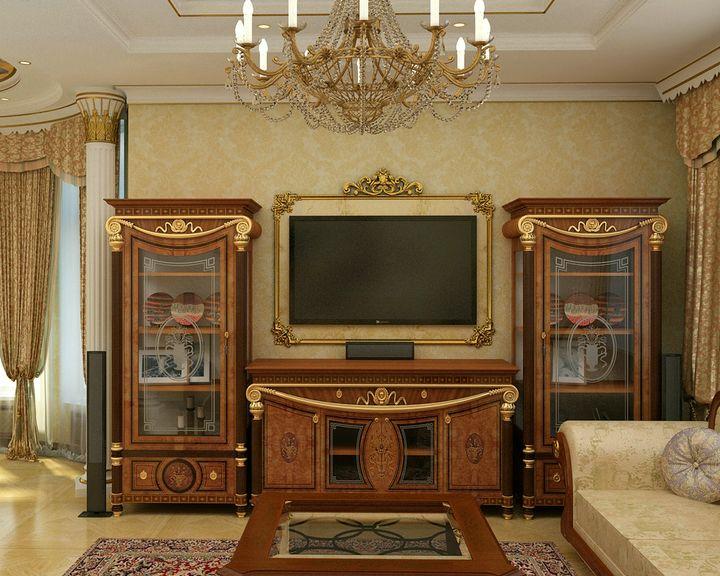 Мебель в гостиной классического стиля