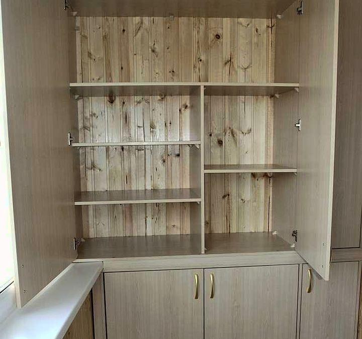 Встроенный шкаф для балкона своими руками