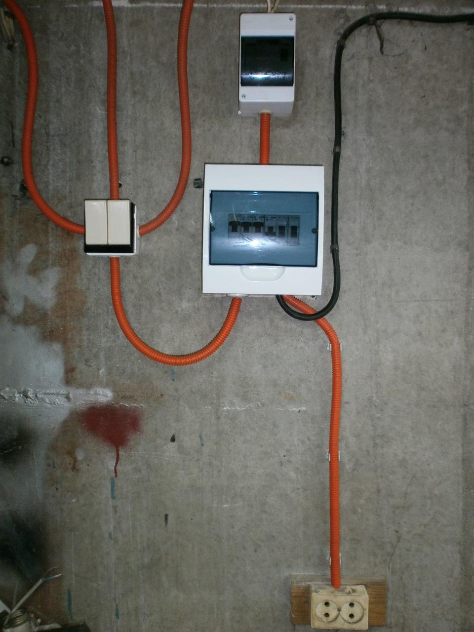 Электрика в гараж своими руками 760