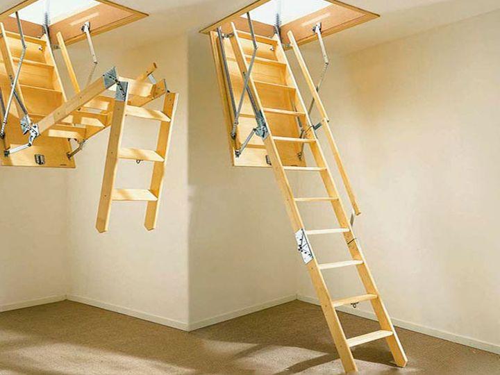 Раскладная лестница для чердака