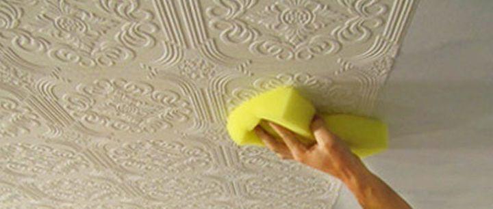 Покраска потолка своими руками под покраску фото