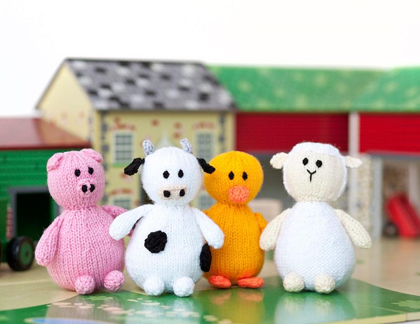 Набор вязаных игрушек
