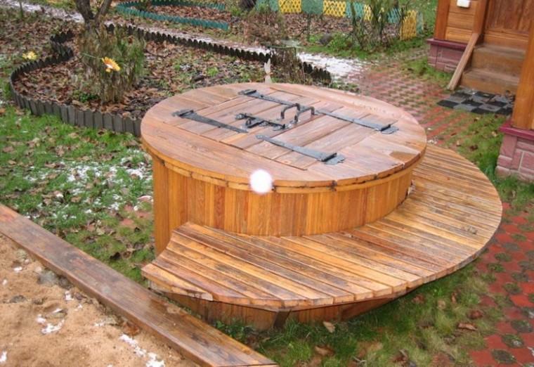 деревянный домик для колодца белье можно