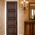 Фото 19: Темная одиночная деревянная дверь