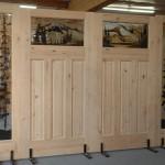 Фото 18: Деревянные двери с витражными вставками