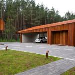 Фото 28: Дизайн деревянного гаража с односкатной крышей