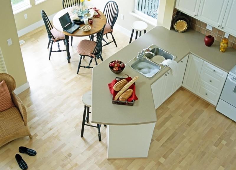Фото 6: Ламинат на кухне