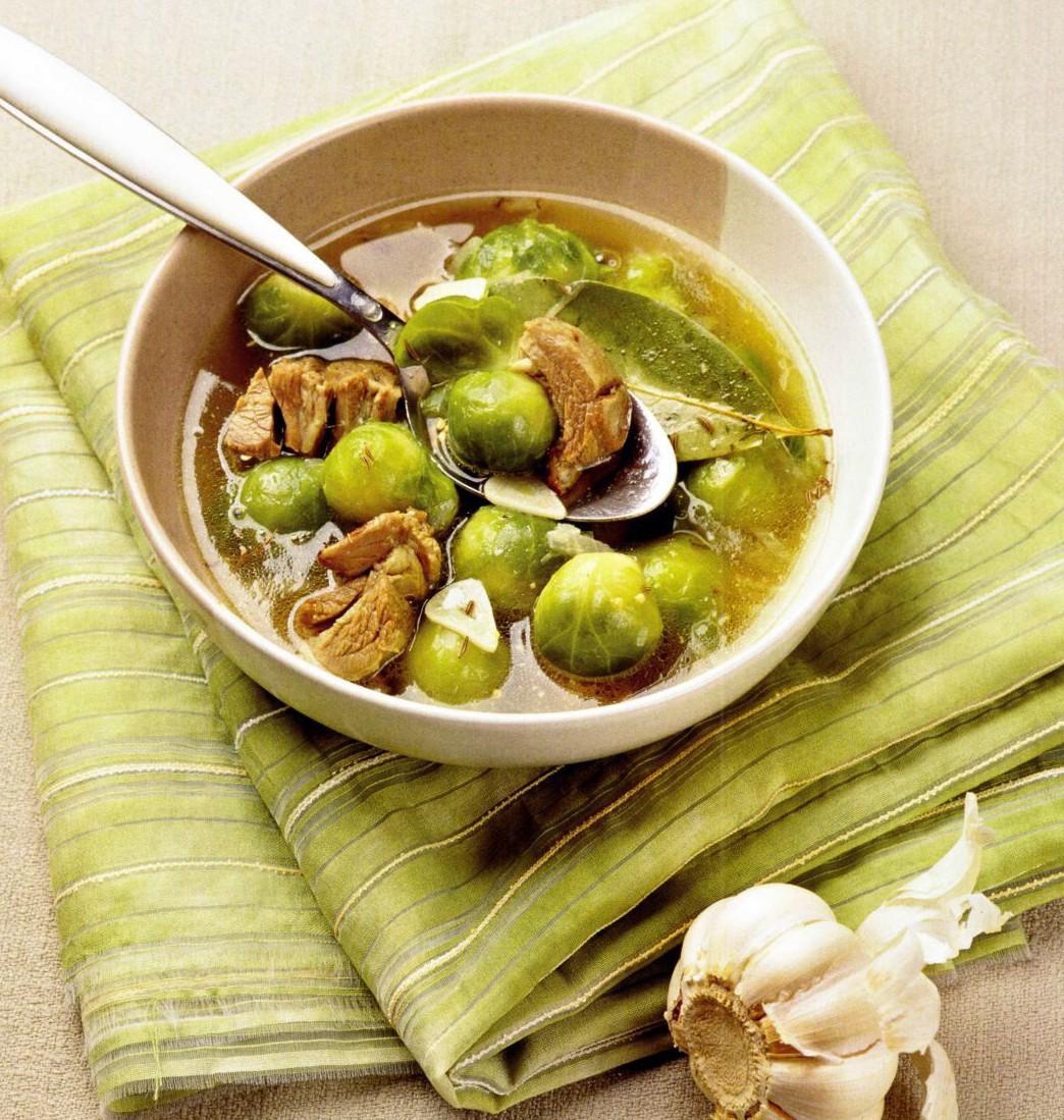 супы с брюссельской капустой сама раздвигает пальчиками